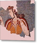 Minoan Wall Painting Metal Print