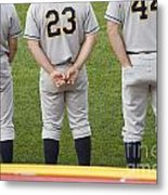 Minor League Baseball Players Metal Print by Jim West