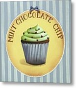 Mint Chocolate Chip Cupcake Metal Print by Catherine Holman