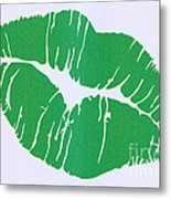 Mint Green Kiss Metal Print