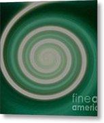 Mint Green Swirl Metal Print