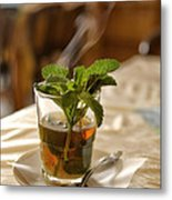 Mint Tea Metal Print