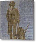 Minuteman Constitution Metal Print