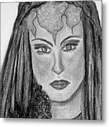 Mirabella Black White Metal Print