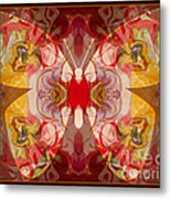 Miracles Can Happen Abstract Butterfly Artwork Metal Print
