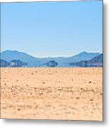 Mirage In The Death Valley Metal Print