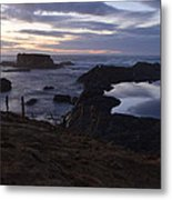 Mirror At Glass Beach Metal Print