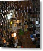 Mirror Ball Metal Print