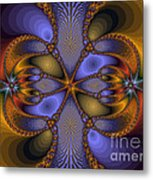 Mirror Butterfly Metal Print