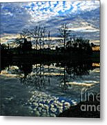 Mirror Image Clouds Metal Print by Jinx Farmer