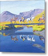Mirror In The Cairngorms Metal Print