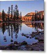 Mirror Lake Dawn Metal Print