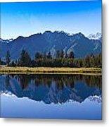 Mirror Lake Panorama Metal Print