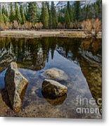 Mirror Lake Threesome Yosemite Metal Print