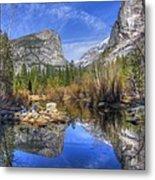 Mirror Lake Yosemite Autumn Metal Print