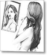Mirror Mirror In My Hand Metal Print