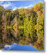 Mirror Reflections Of Fall Metal Print