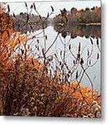 Mirror Smooth River Metal Print
