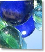 Mirrored Marbles Metal Print