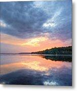 Mirrored Sunset Metal Print