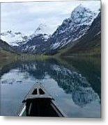 Mirrored Voyage Metal Print