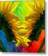 Mirrorring Suns Metal Print