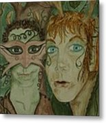 Mischief Metal Print by Carrie Viscome Skinner