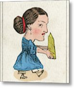 Miss Grits The Grocer's  Daughter Metal Print