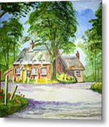 Miss Marples Cottage  St Mary-meade Metal Print by Ian Scott-Taylor
