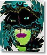 Miss Peacock Metal Print