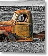 Missing Front Wheels Metal Print