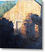 Mission At Sunset Metal Print