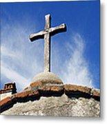 Mission Cross Metal Print