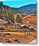 Mission Cusarare Tarahumara Village In Chihuahua-mexico  Metal Print