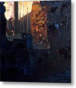 Mission Door At Sunset Metal Print