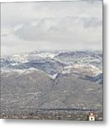 Mission In Winter Metal Print