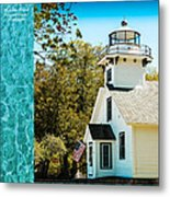 Mission Point Light House Michigan Metal Print