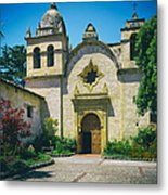 Mission San Carlos - Carmel California Metal Print