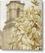 Mission San Jose And Blooming Yucca Metal Print
