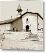 Mission San Luis Obispo Circa 1890 Metal Print
