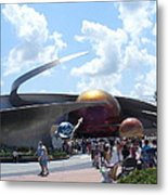 Mission Space Pavilion Metal Print