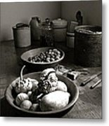 Mission Still In Black And White Metal Print