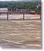 Mississippi River At I-72 Metal Print