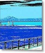 Mississippi River Bridge Poster Metal Print