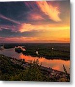Mississippi River Evening Metal Print