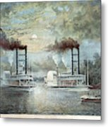 Mississippi River Race, C1859 Metal Print