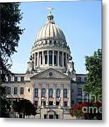 Mississippi State Capitol Downtown Jackson Metal Print