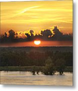 Mississippi Sunset Metal Print