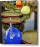 Missouri Botanical Garden Six Glass Spheres And Lilly Pads Img 2464 Metal Print