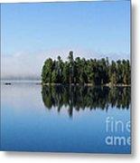 Mist On Lake Of Two Rivers Metal Print